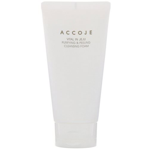 Accoje, Vital in Jeju, Purifying & Peeling Cleansing Foam, 150 ml Review