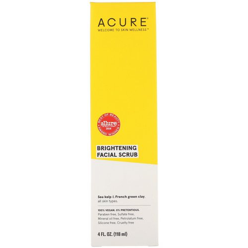 Acure, Brightening Facial Scrub, 4 fl oz (118 ml) Review