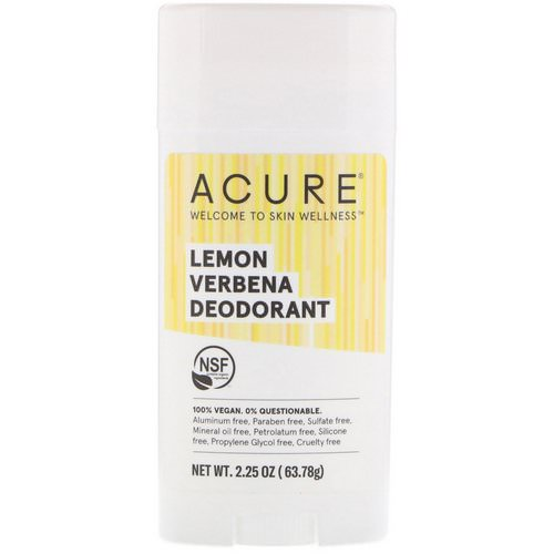 Acure, Deodorant, Lemon Verbena, 2.25 oz (63.78 g) Review