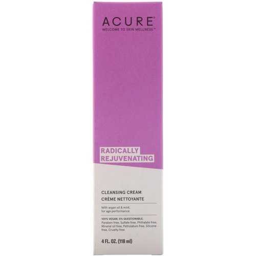 Acure, Radically Rejuvenating, Cleansing Cream, 4 fl oz (118 ml) Review