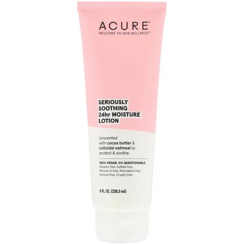 Acure, Seriously Soothing 24hr Moisture Lotion, 8 fl oz (236.5 ml) Review