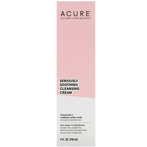 Acure, Seriously Soothing Cleansing Cream, 4 fl oz (118 ml) Review