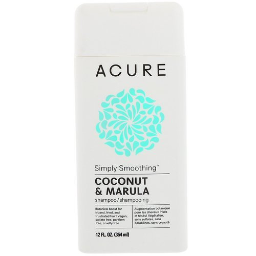 Acure, Simply Smoothing Shampoo, Coconut & Marula, 12 fl oz (354 ml) Review