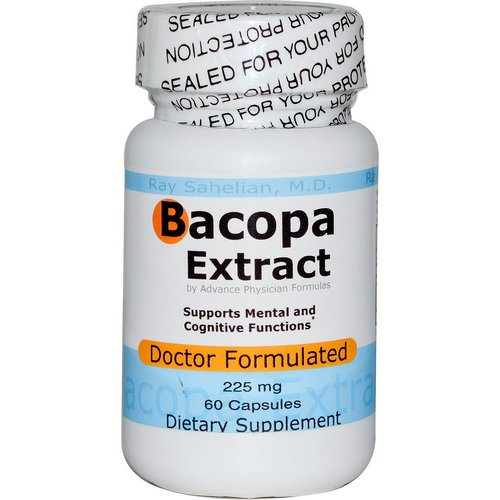 Advance Physician Formulas, Bacopa Extract, 225 mg, 60 Capsules Review