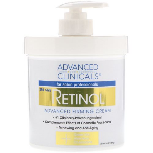 Advanced Clinicals, Retinol, Advanced Firming Cream, 16 oz (454 g) Review
