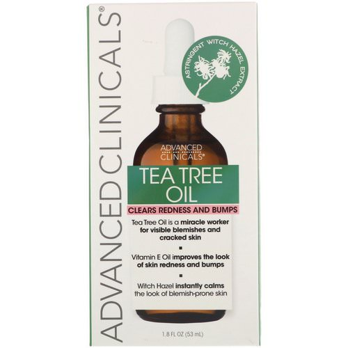 Advanced Clinicals, Tea Tree Oil, 1.8 fl oz (53 ml) Review