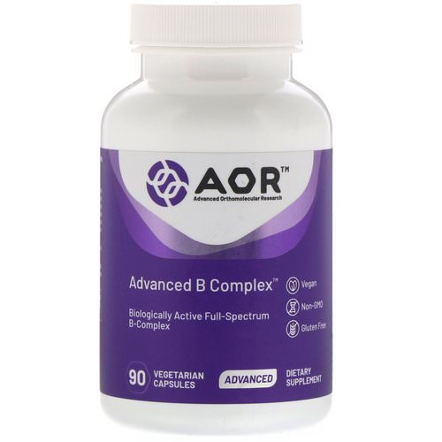 Advanced Orthomolecular Research AOR, Advanced B Complex, 90 Vegetarian Capsules Review