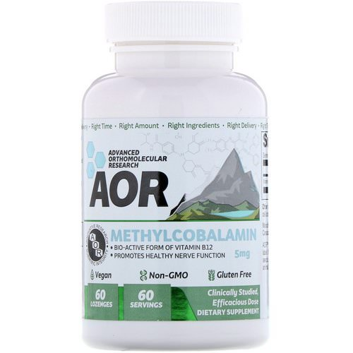 Advanced Orthomolecular Research AOR, Methylcobalamin, 5 mg, 60 Lozenges Review