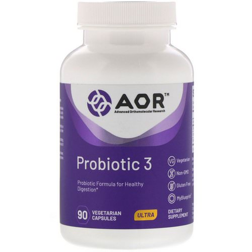 Advanced Orthomolecular Research AOR, Probiotic 3, 90 Vegetarian Capsules Review