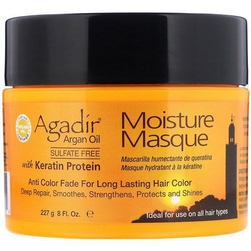 Agadir, Argan Oil, Moisture Masque with Keratin Protein, 8 fl oz (227 g) Review