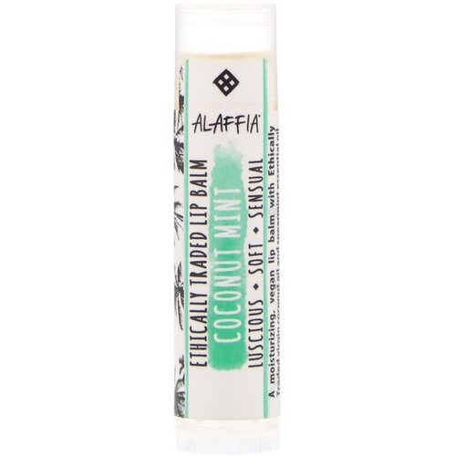 Alaffia, Everyday Coconut, Ethically Traded Lip Balm, Coconut Mint, 0.15 oz (4.25 g) Review