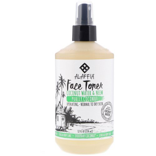 Alaffia, Everyday Coconut, Face Toner, Purely Coconut, Normal to Dry Skin, 12 fl oz (354 ml) Review