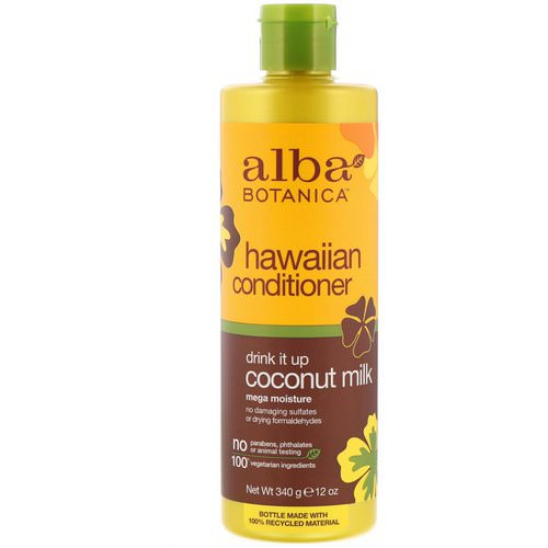 Alba Botanica, Hawaiian Conditioner, Drink It Up Coconut Milk, 12 oz (340 g) Review