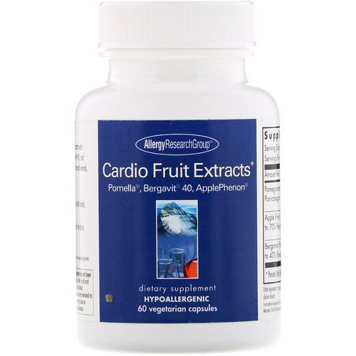 Allergy Research Group, Cardio Fruit Extracts, 60 Vegetarian Capsules Review