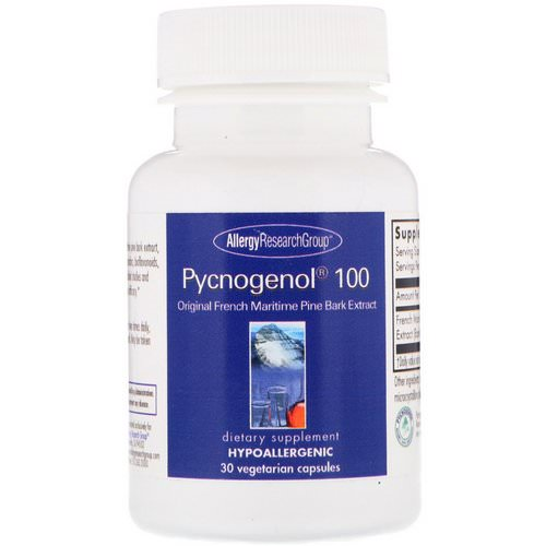 Allergy Research Group, Pycnogenol 100, 30 Vegetarian Capsules Review
