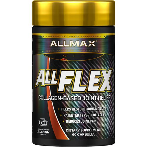 ALLMAX Nutrition, AllFlex, Collagen-Based Joint Relief, UC-II Collagen + Curcumin, 60 Capsules Review