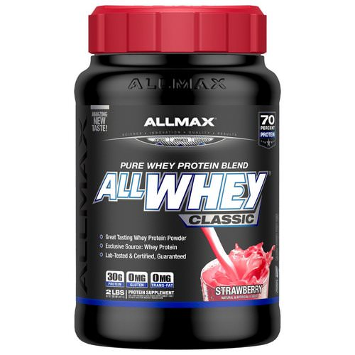 ALLMAX Nutrition, AllWhey Classic, 100% Whey Protein, Strawberry, 2 lbs (907 g) Review