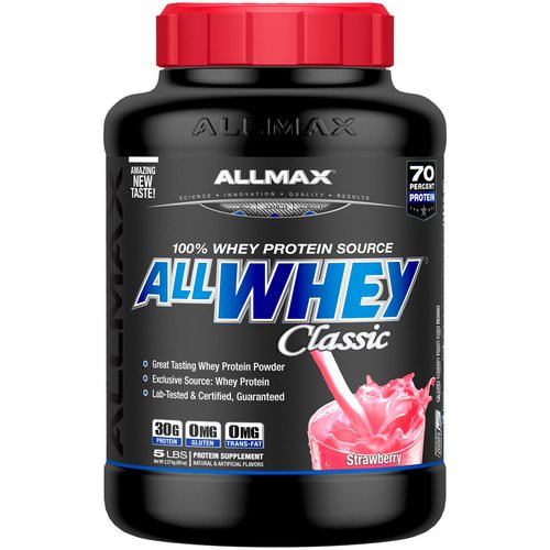 ALLMAX Nutrition, AllWhey Classic, 100% Whey Protein, Strawberry, 5 lbs (2.27 kg) Review