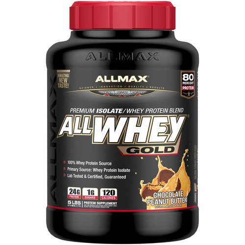 ALLMAX Nutrition, AllWhey Gold, 100% Whey Protein + Premium Whey Protein Isolate, Chocolate Peanut Butter, 5 lbs. (2.27 kg) Review