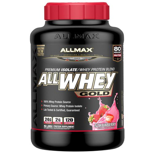 ALLMAX Nutrition, AllWhey Gold, 100% Whey Protein + Premium Whey Protein Isolate, Strawberry, 5 lbs. (2.27 kg) Review