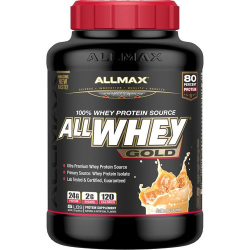 ALLMAX Nutrition, AllWhey Gold, 100% Whey Protein Source, Salted Caramel, 5 lbs. (2.27 kg) Review