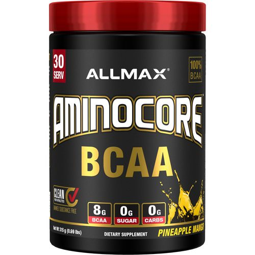 ALLMAX Nutrition, AMINOCORE, BCAA, 8G BCAA + 0 Sugar + 0 Carbs, Pineapple Mango, 0.69 lbs (315 g) Review