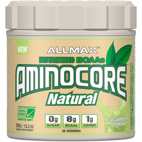 ALLMAX Nutrition, Aminocore Natural, Instantized BCAAs, Cucumber Melon, 13.3 oz (378 g) Review