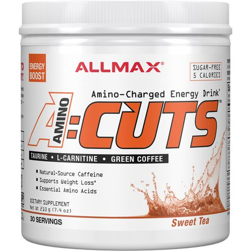 ALLMAX Nutrition, AMINOCUTS (ACUTS), Amino-Charged Energy Drink, Sweet Tea, 7.4 oz (210 g) Review
