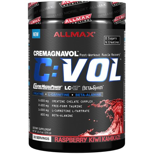 ALLMAX Nutrition, C:VOL, Professional-Grade Creatine + Taurine + L-Carnitine Complex, Raspberry Kiwi Kamikaze, 13.2 oz (375 g) Review
