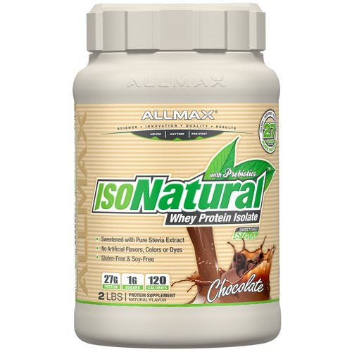 ALLMAX Nutrition, IsoNatural Pure Whey Protein Isolate, Chocolate, 2 lbs (907 g) Review