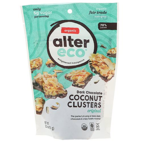 Alter Eco, Dark Chocolate Coconut Clusters, Original, 3.2 oz (91 g) Review