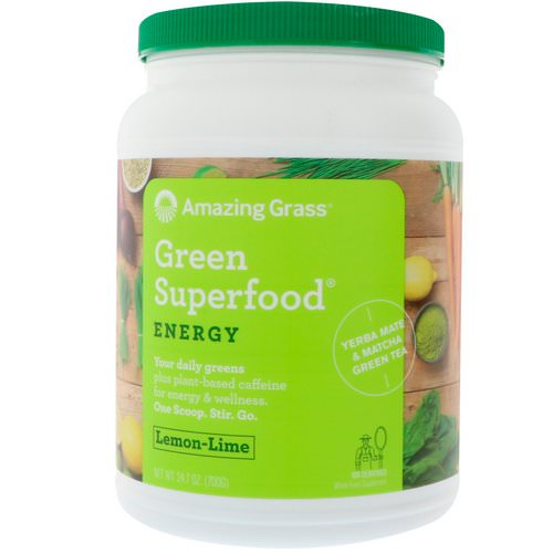 Amazing Grass, Green Superfood, Energy, Lemon Lime, 1.5 lbs (700 g) Review