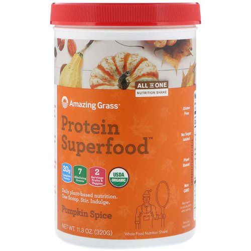 Amazing Grass, Protein Superfood, Holiday Pumpkin Spice, 11.3 oz (320 g) Review