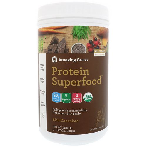 Amazing Grass, Protein Superfood, Rich Chocolate, 1 lb 7 oz (648 g) Review