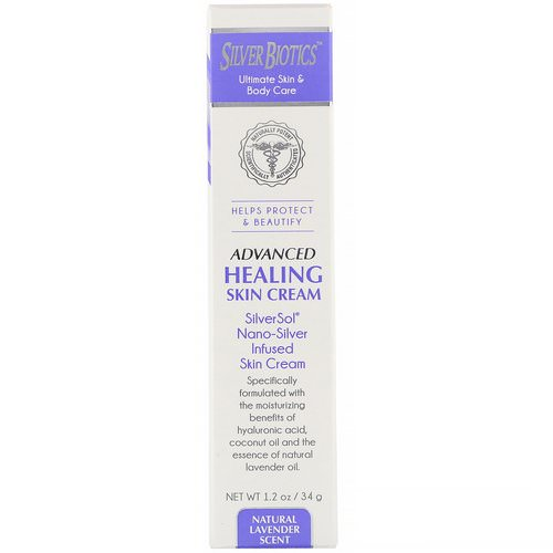 American Biotech Labs, Advanced Healing Skin Cream, Natural Lavender Scent, 1.2 oz (34 g) Review
