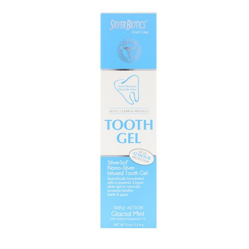 American Biotech Labs, Silver Biotics, Tooth Gel, Glacial Mint, 4 oz (114 g) Review