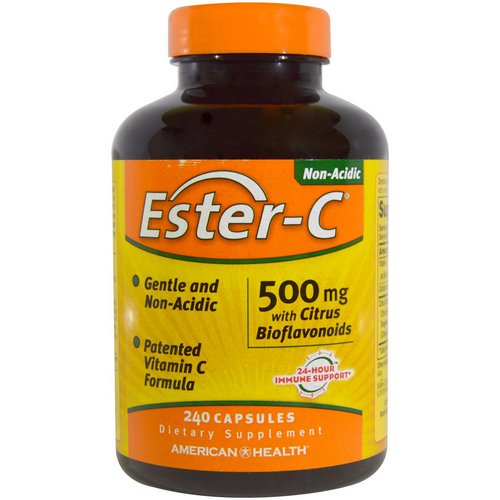 American Health, Ester-C with Citrus Bioflavonoids, 500 mg, 240 Capsules Review