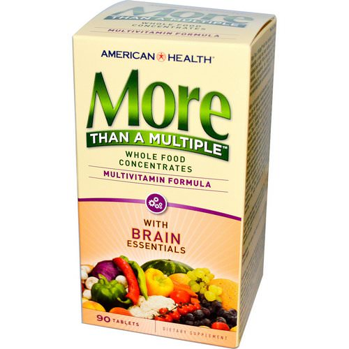 American Health, More Than A Multiple with Brain Essentials, 90 Tablets Review