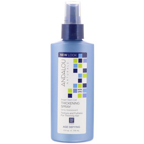 Andalou Naturals, Argan Stem Cell Thickening Spray, Age Defying, 6 fl oz (178 ml) Review
