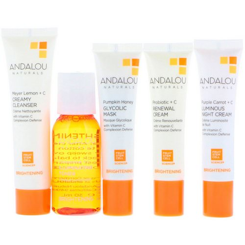 Andalou Naturals, Get Started Brightening, Skin Care Essentials, 5 Piece Kit Review