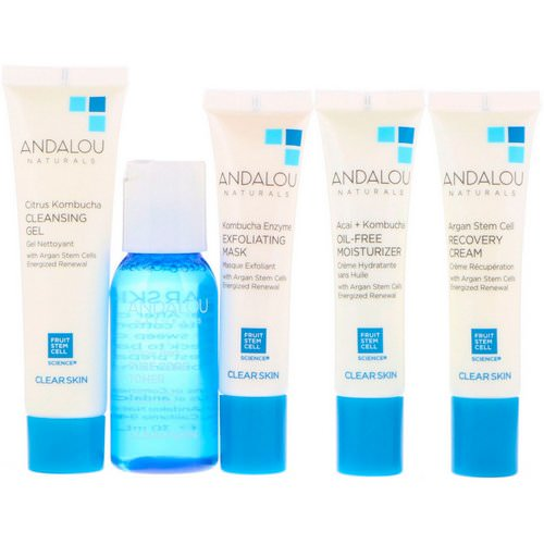 Andalou Naturals, Get Started Clarifying, Skin Care Essentials, 5 Piece Kit Review