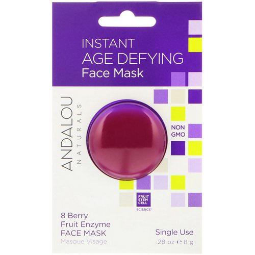 Andalou Naturals, Instant Age Defying, 8 Berry Fruit Enzyme Face Mask, .28 oz (8 g) Review