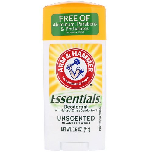 Arm & Hammer, Essentials Natural Deodorant, Unscented, 2.5 oz (71 g) Review