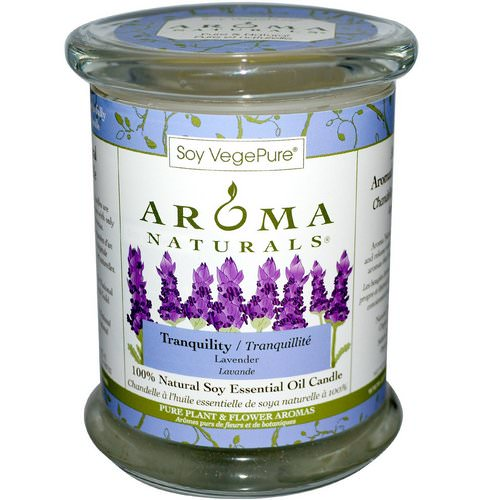 Aroma Naturals, 100% Natural Soy Essential Oil Candle, Tranquility, Lavender, 8.8 oz (260 g) Review