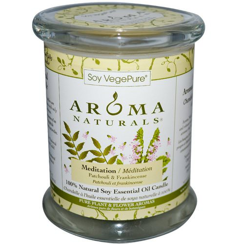 Aroma Naturals, Soy VegePure, 100% Natural Soy Pillar Candle, Meditation, Patchouli & Frankincense, 8.8 oz (260 g) Review