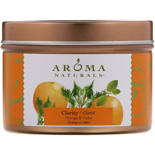 Aroma Naturals, Soy VegePure, Clarity, Travel Candle, Orange & Cedar, 2.8 oz (79.38 g) Review