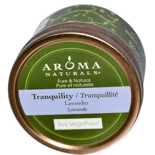 Aroma Naturals, Soy VegePure, Tranquility, Travel Candle, Lavender, 2.8 oz (79.38 g) Review