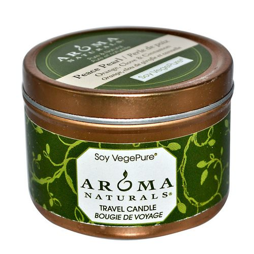Aroma Naturals, Soy VegePure, Travel Candle, Peace Pearl, Orange, Clove & Cinnamon, 2.8 oz (79.38 g) Review