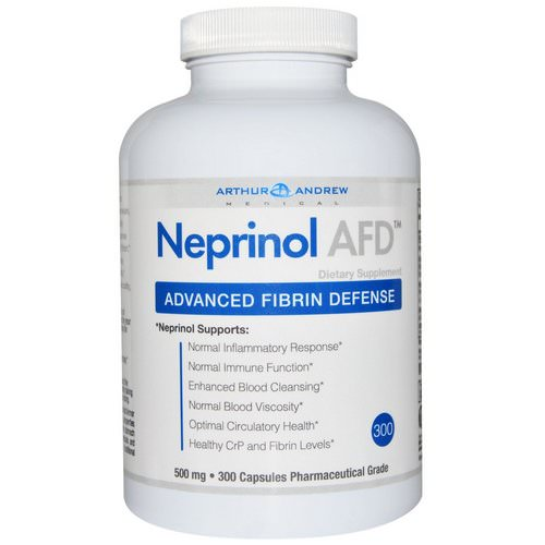 Arthur Andrew Medical, Neprinol AFD, Advanced Fibrin Defense, 500 mg, 300 Capsules Review