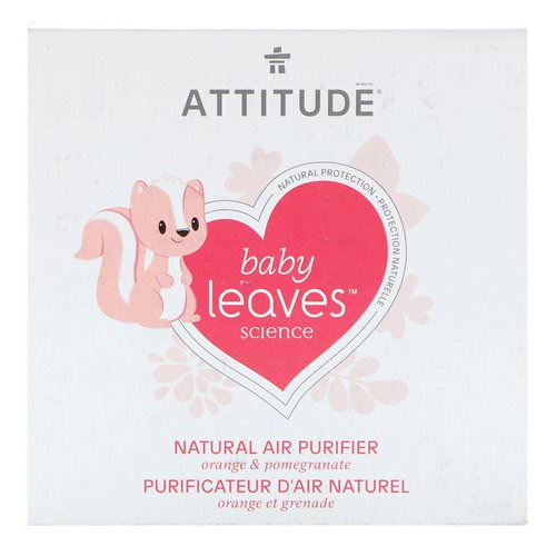ATTITUDE, Baby Leaves Science, Natural Air Purifier, Orange & Pomegranate, 8 oz (227 g) Review